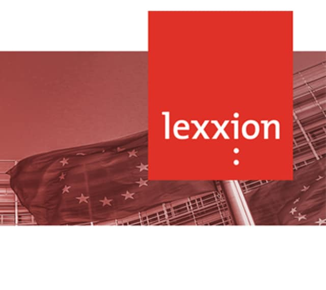 lexxion logo and eu flags