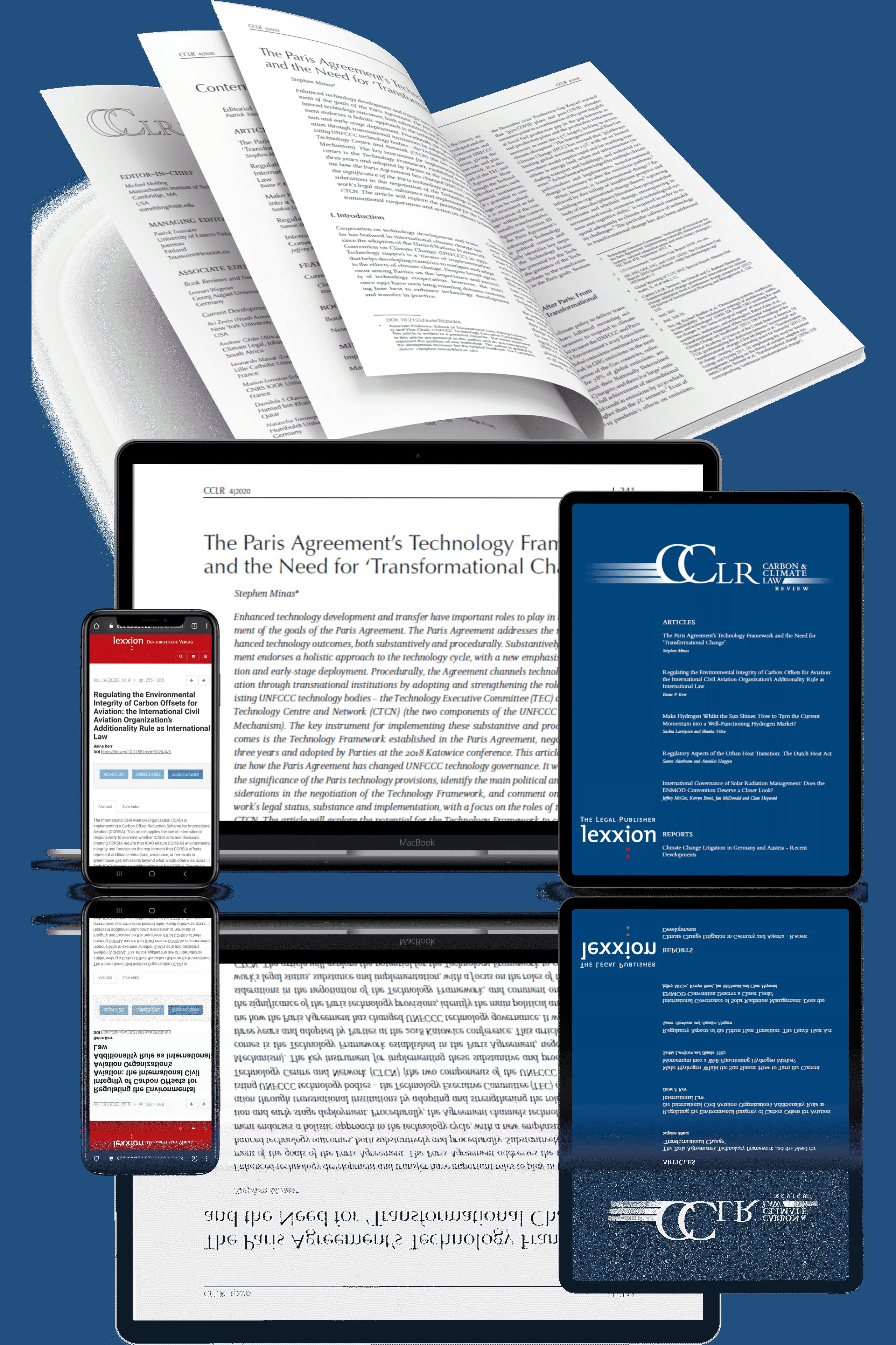CCLR – Carbon & Climate Law Review   Lexxion