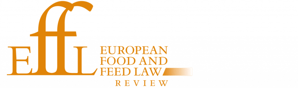 Effl European Food And Feed Law Review Lexxion