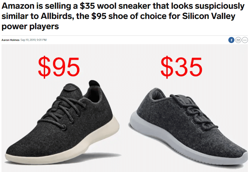 same sneakers with different price