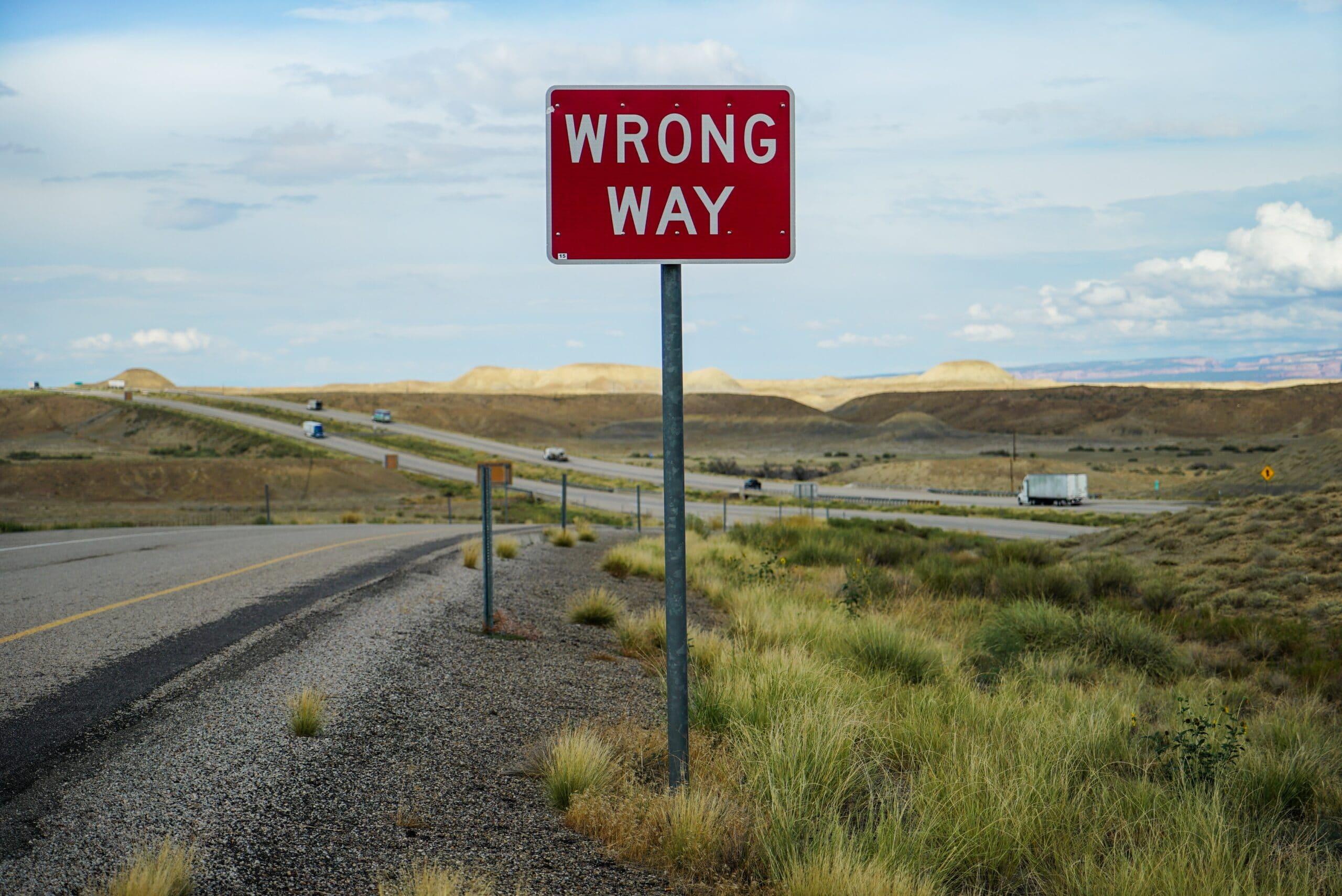 """Road sign """"Wrong Way"""""""