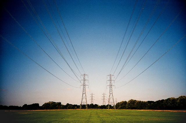 electricity grid cables