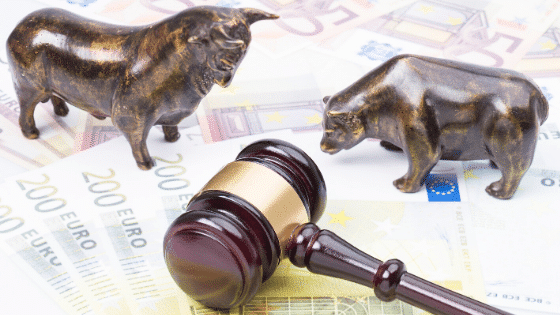 gavel, animal figures, euros