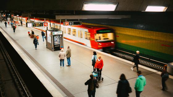 train entering station