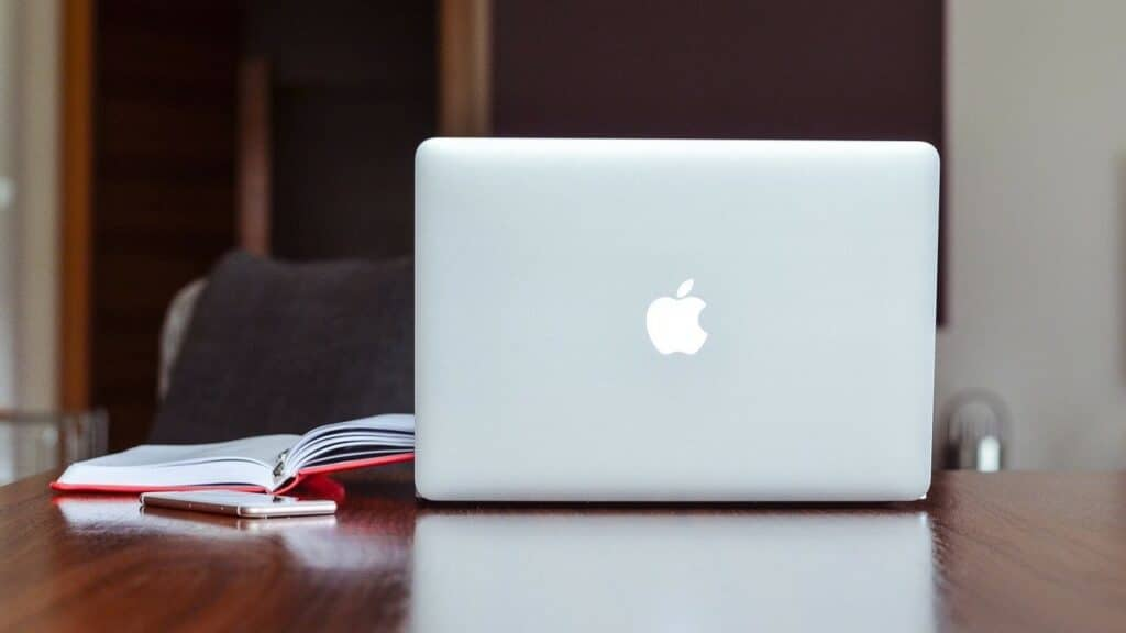 MacBook on Table